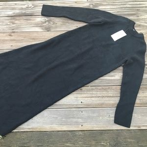 Zara Women Dress Black Long Sweater Knit Dress Cor
